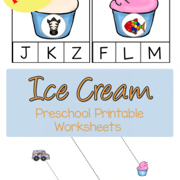FREE Ice Cream Preschool Worksheets