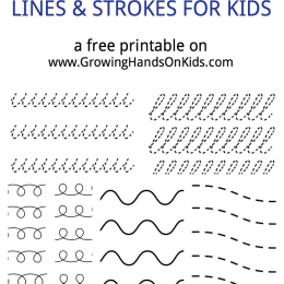 FREE Cursive Pre-Writing Printable