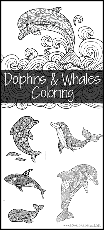 FREE Dolphin and Whale Coloring Pages   Free Homeschool Deals ©