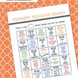 FREE Summer Reading Cards Bingo Printable