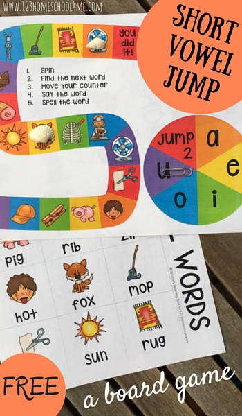 Free Short Vowel Board Game Free Homeschool Deals