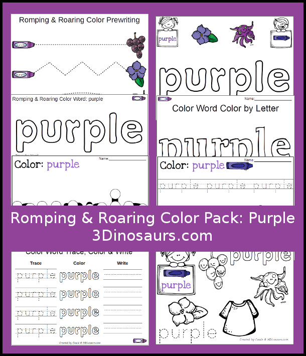 free romping and roaring purple pack free homeschool deals. Black Bedroom Furniture Sets. Home Design Ideas