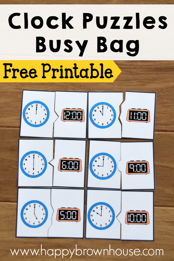 free clocks busy bags printables free homeschool deals. Black Bedroom Furniture Sets. Home Design Ideas