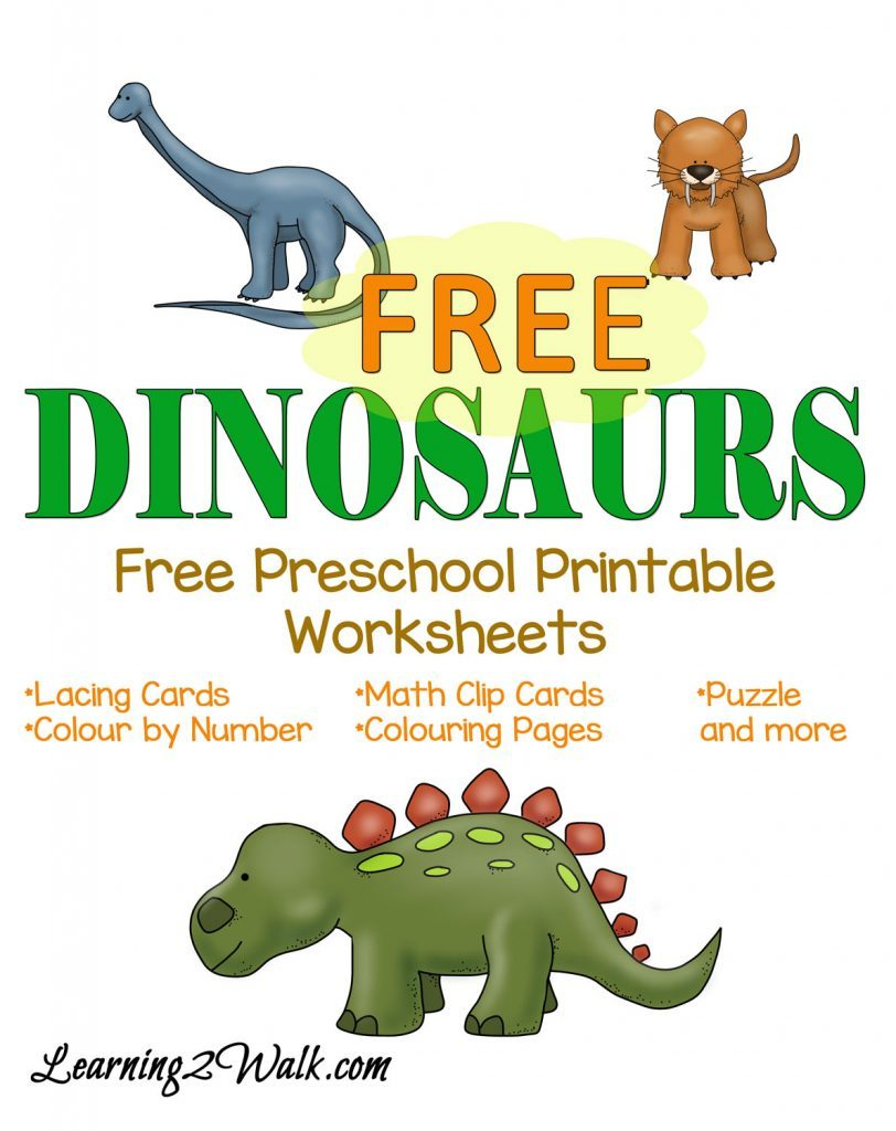 free dinosaurs preschool pack free homeschool deals. Black Bedroom Furniture Sets. Home Design Ideas