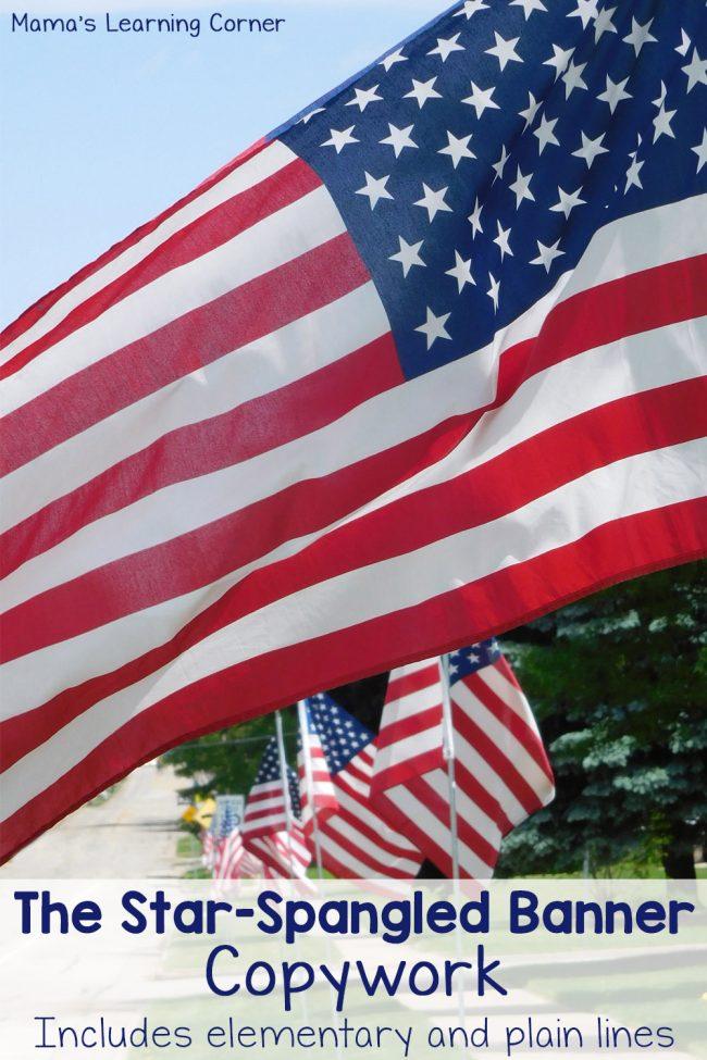 FREE Star Spangled Banner Copywork | Free Homeschool Deals