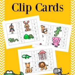FREE ABC ANIMAL CLIP CARDS (Instant Download)