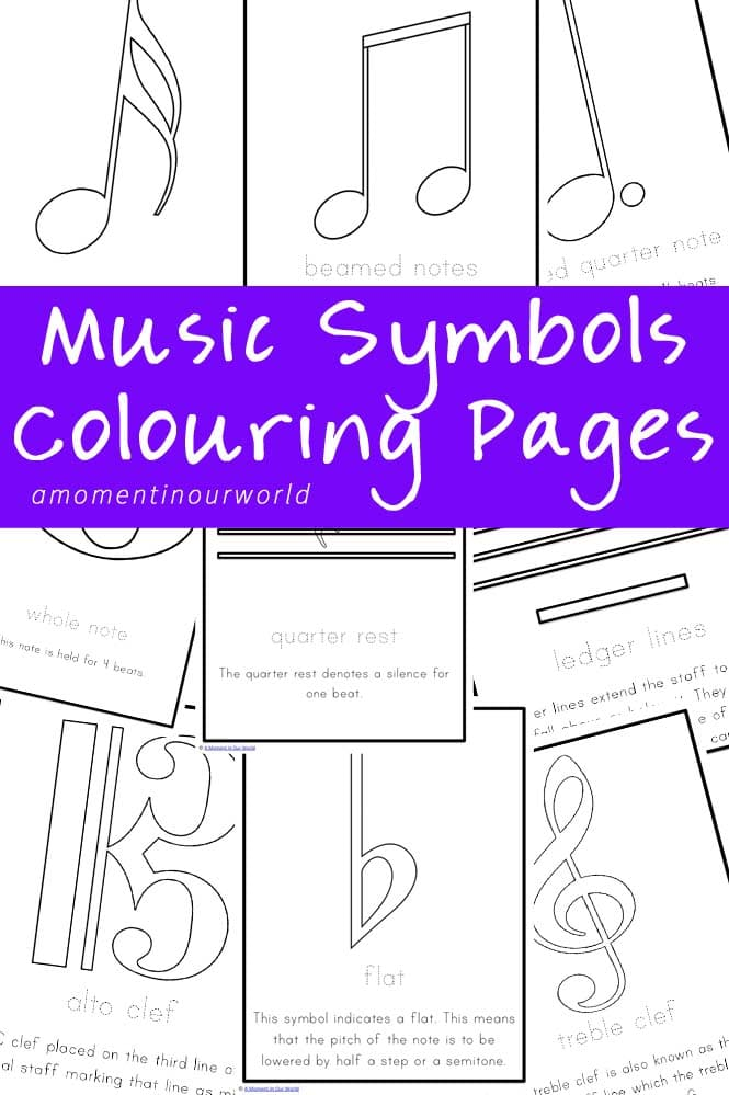 FREE Music Symbols Coloring Pages