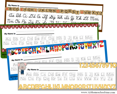 FREE Alphabet Desk Chart | Free Homeschool Deals