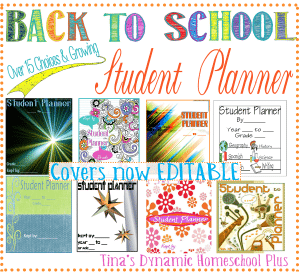 FREE Back to school student planner