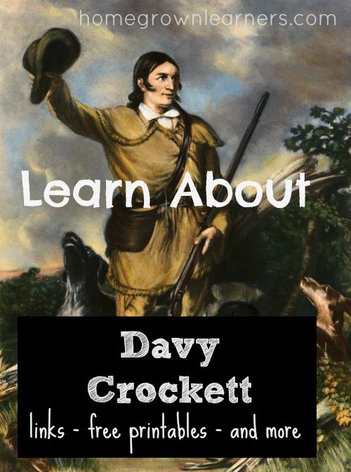 FREE Davy Crockett Unit Study