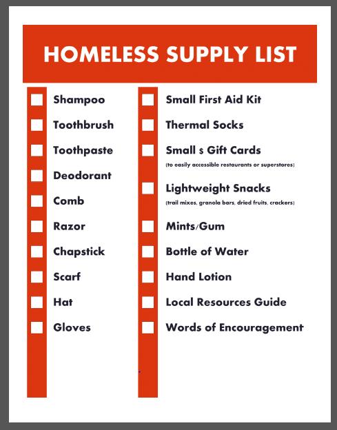 Free Homeless Supply List Printables Free Homeschool Deals