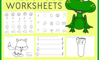 FREE LETTER F PRESCHOOL WORKSHEETS (Instant Download)