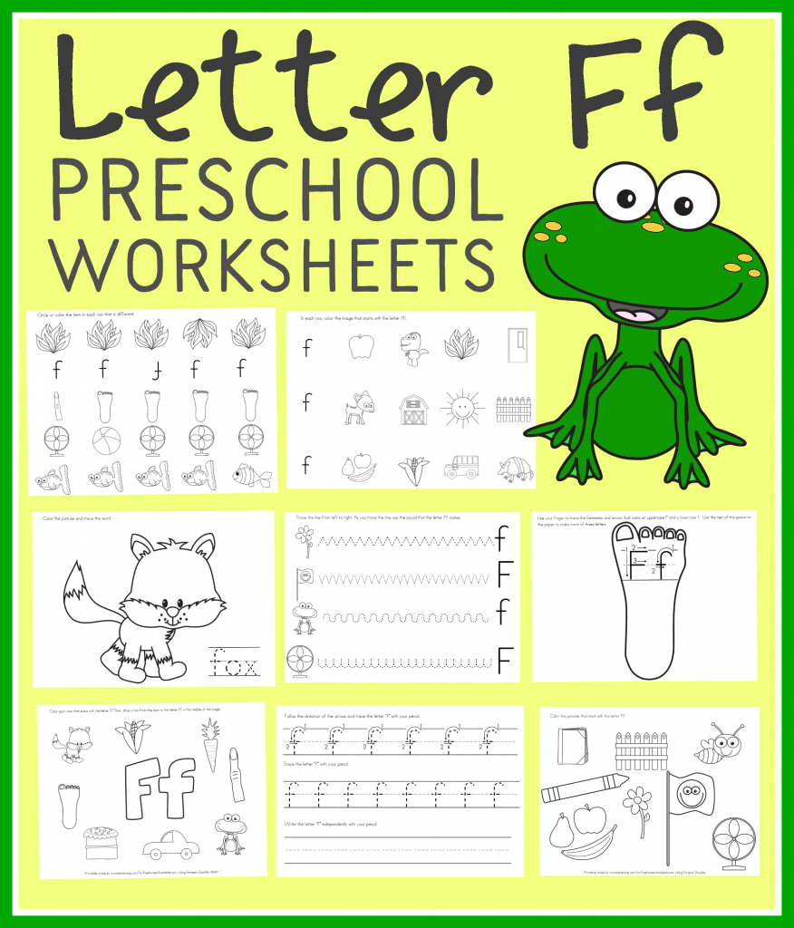 Printable Worksheets Home : Free letter f preschool worksheets instant download