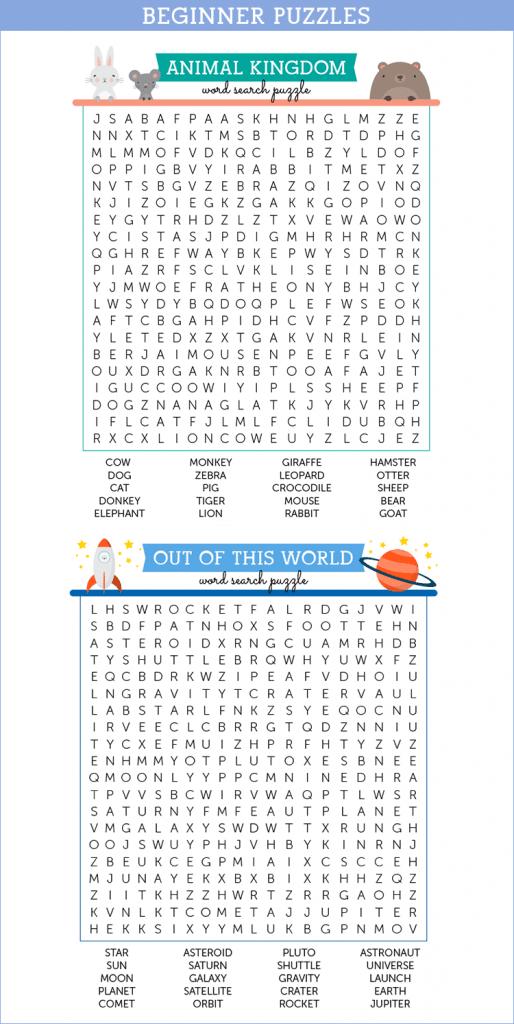 FREE Beginner Wordsearch Puzzles | Free Homeschool Deals