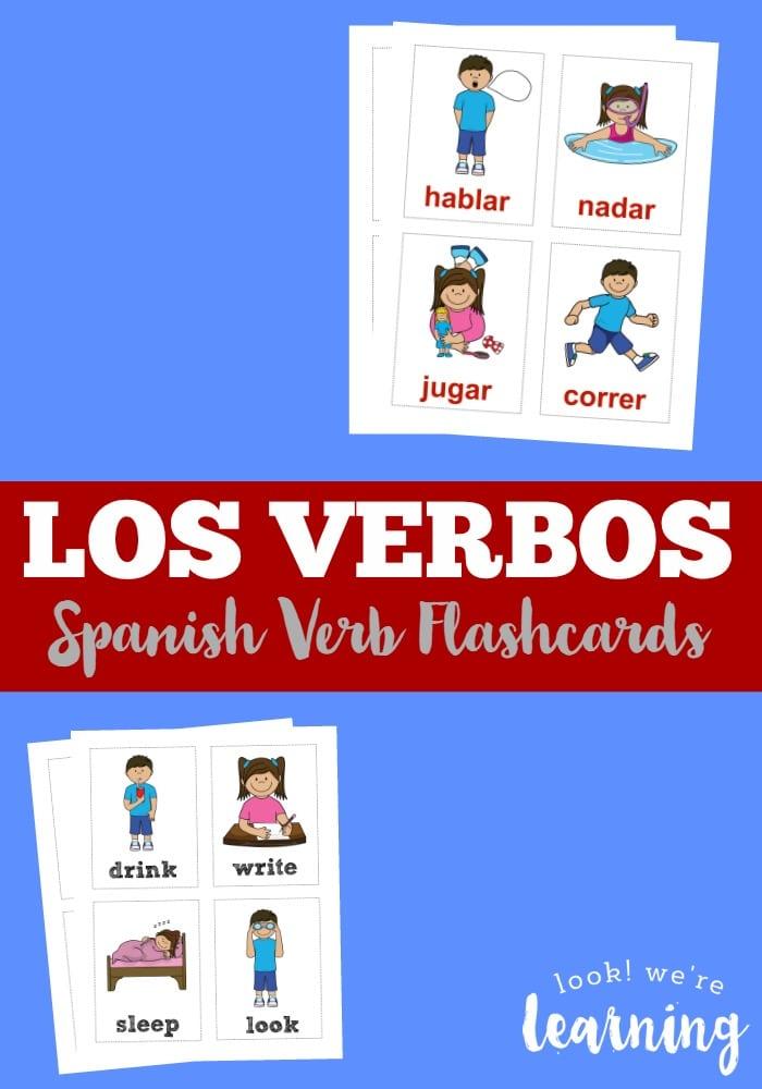 FREE Spanish Verb Flashcards | Free Homeschool Deals ©