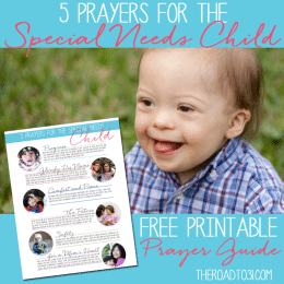 FREE Prayers for the Special Need Child