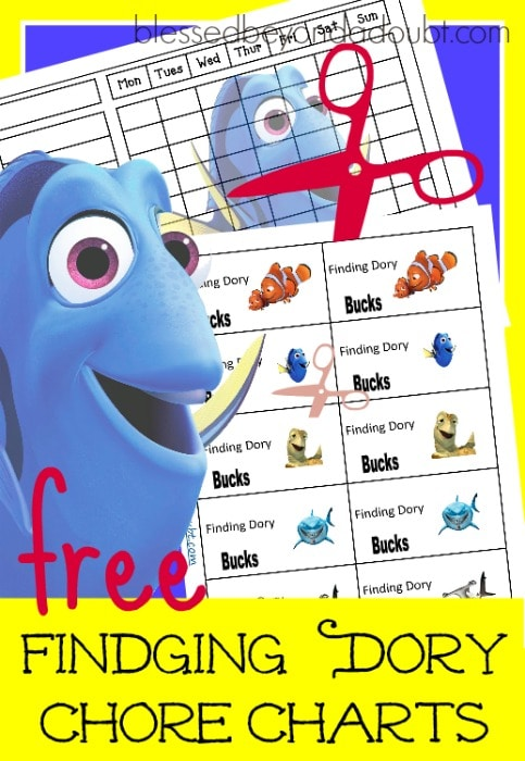 FREE Finding Dory Chore Charts