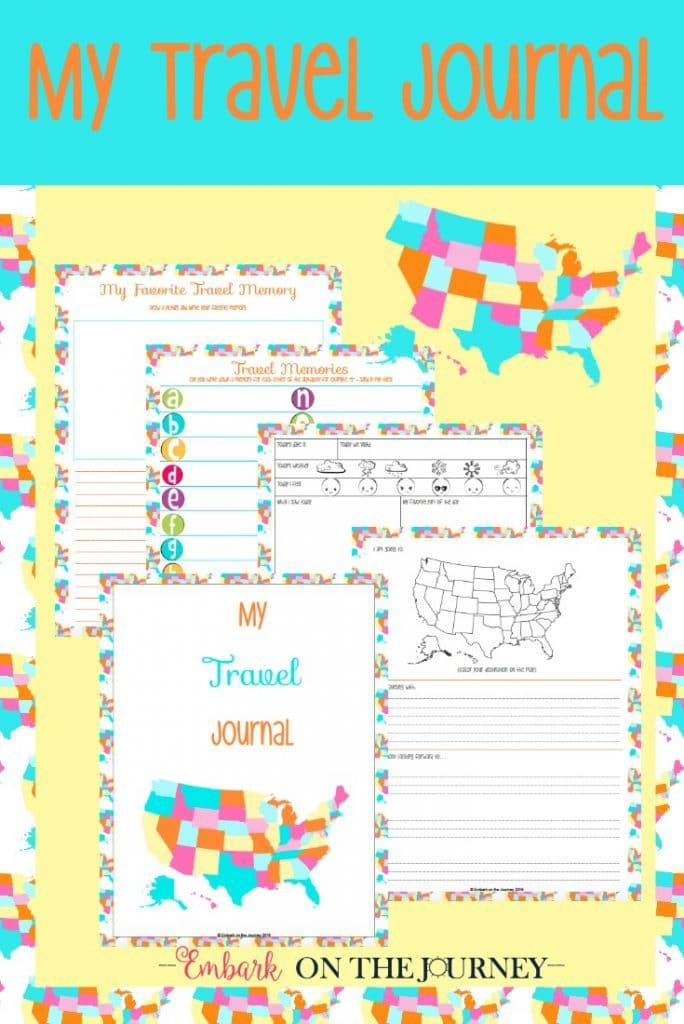 FREE Kids Travel Journal