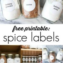 FREE Spice Rack Label Printables