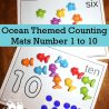 FREE Ocean Themed Number Mats