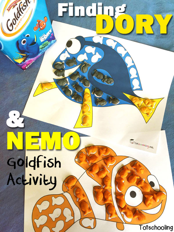free finding dory  u0026 nemo goldfish crackers printable