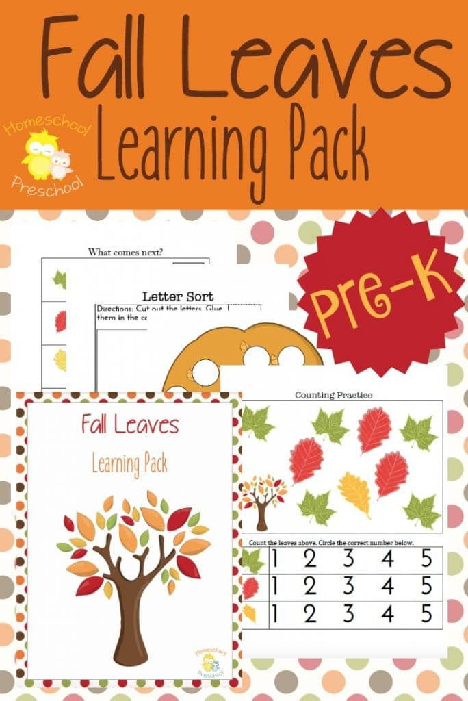 FREE Fall Leaves Preschool Printables