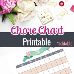 FREE Editable Chore Chart Printables