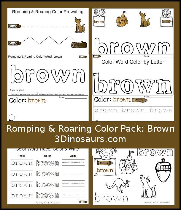 free brown color pack free homeschool deals. Black Bedroom Furniture Sets. Home Design Ideas