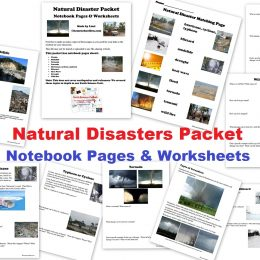 FREE Natural Disasters Notebooking Pages and Pack