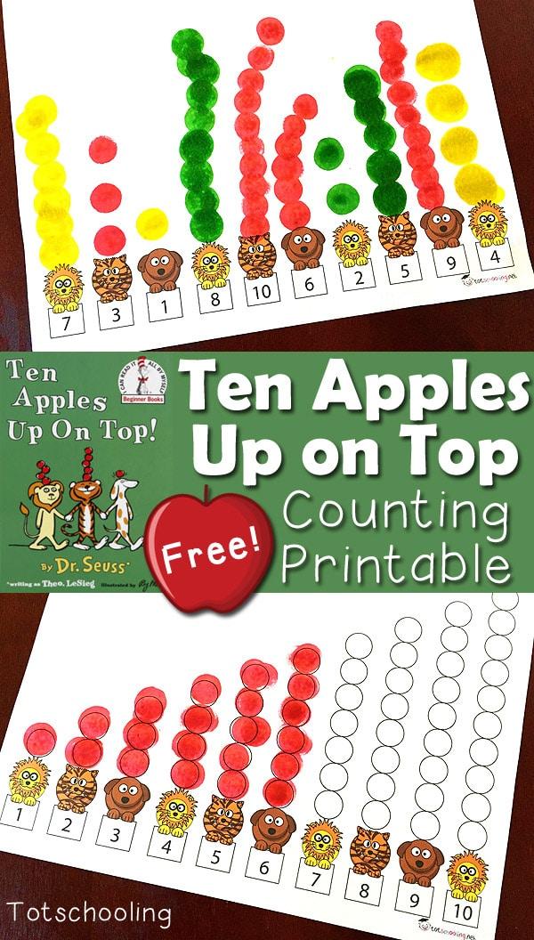 Free Ten Apples Up On Top Printables Free Homeschool Deals