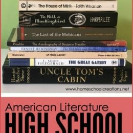 FREE American Literature Reading List for High School