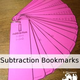 FREE Subtraction Bookmarks