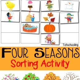 FREE Four Seasons Sorting Printable
