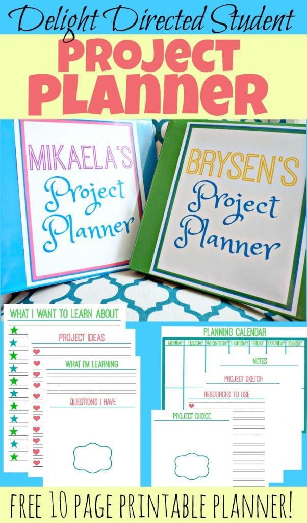 Free project planning pack free homeschool deals for Home project planner