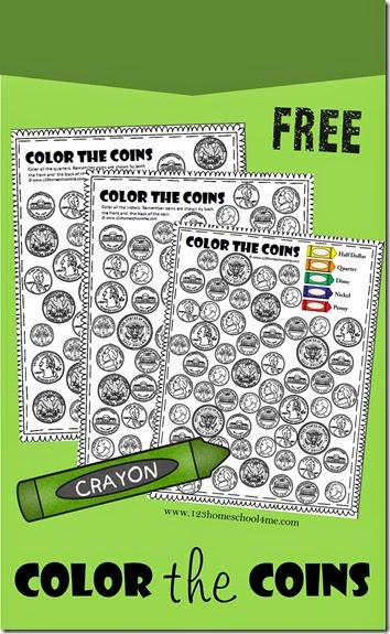 free coin worksheets - Free Color Worksheets