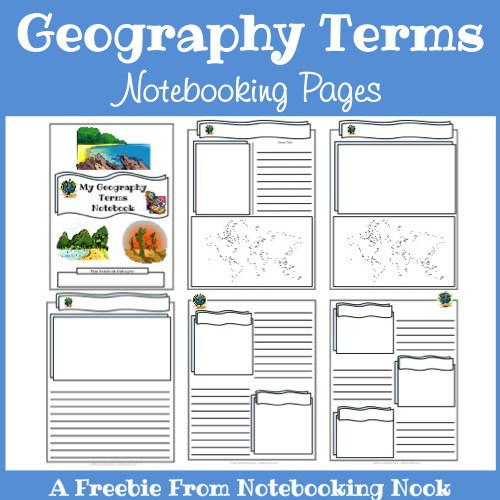 Free Printable Worksheets Geography : Free geography notebooking pages homeschool deals