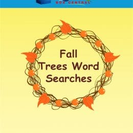 Free Fall Trees Word Searches Pack