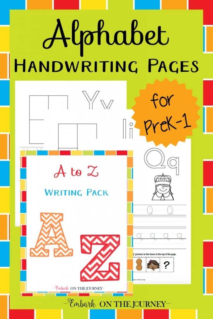 free alphabet handwriting pack