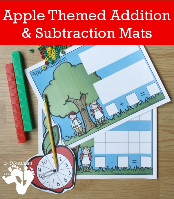 Free Apple Themed Addition And Subtraction Mats Free