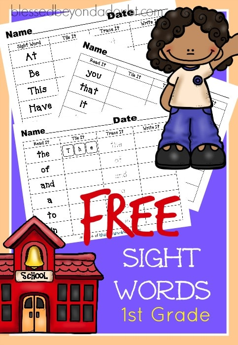 FREE First Grade Sight Word Reading List : Free Homeschool ...