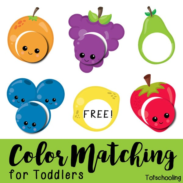 FREE Color Matching for Toddlers