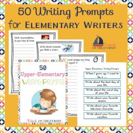 FREE 50 Writing Prompts for Elementary Writers