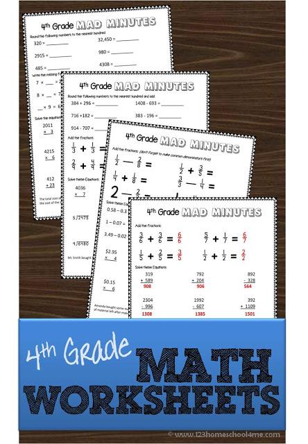 free 4th grade math worksheets free homeschool deals. Black Bedroom Furniture Sets. Home Design Ideas
