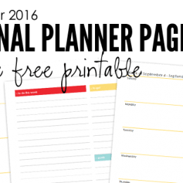 FREE September Planner Pages
