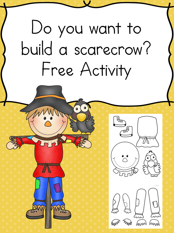 FREE Scarecrow Activity Set