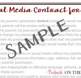 FREE Social Media Contract for Kids