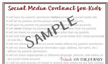FREE Social Media Contract