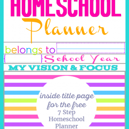 FREE Homeschool Planner Inside Page