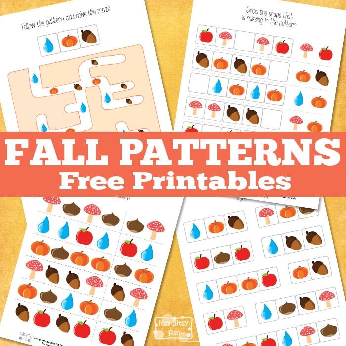 Free Fall Pattern Printables Free Homeschool Deals