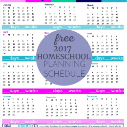 FREE Homeschool Planning Form